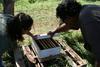 Freeman Farm - John & Jen Inspect Hive