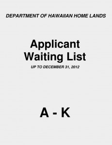 Application Waiting List