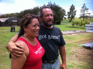 Agriculture homesteaders Tricia and Mike Hodson are the proud owners of their Puʻukapu-based family business Wow Farm.