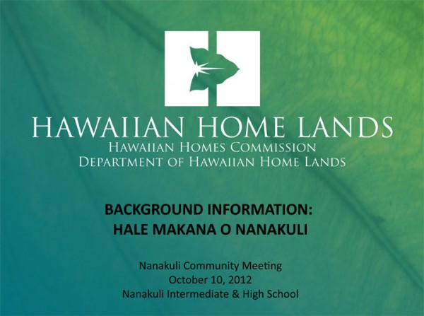 Nanakuli Village Center presentation
