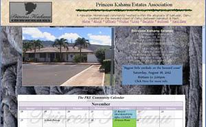 Screenshot of an estate webpage