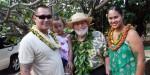 The Barrett 'ohana with Gov. Neil Abercrombie