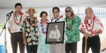 Current HHC Chair Jobie Masagatani, and Oʻahu Commissioners Mike Kahikina and Uncle Joe Tassill present a portrait of Prince Jonah Kūhiō to Former HHC Chair Kali Watson, left, and the board of the NāNākuli Hawaiian Homestead Community Association for the blessing of their Hale Makana 'o Nānākuli low income housing project. For more information, see: http://www.hawndev.org/affordable-housing/hale-makana-o-nanakuli.html