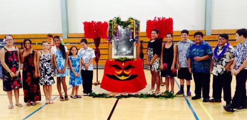Keaukaha Elementary sixth-graders.
