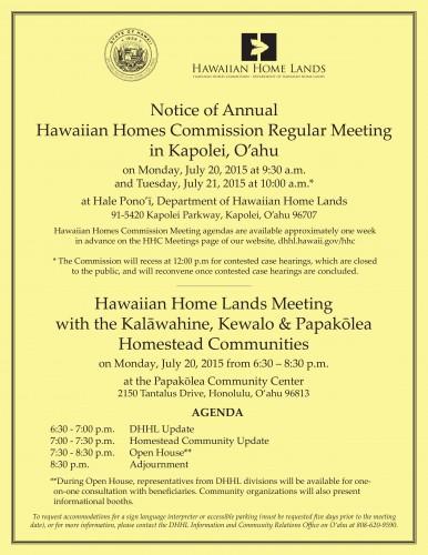 Papakolea Meeting Flyer