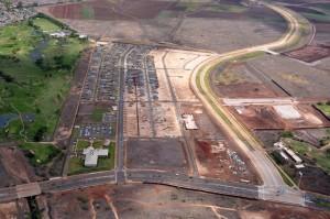 Aerial view, Kanehili, Kapolei, O'ahu
