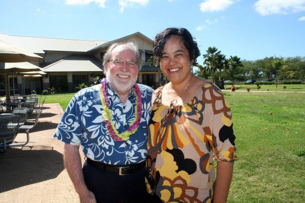 Gov. Neil Abercrombie and DHHL Director Jobie Masagatani