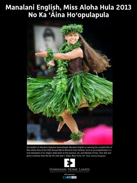 Hawaiian Home Lands Mana Ad Aloha Hula