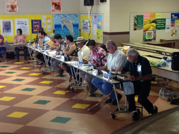 The Hawaiian Homes Commission meets this morning at Kapa'a Elementary School.
