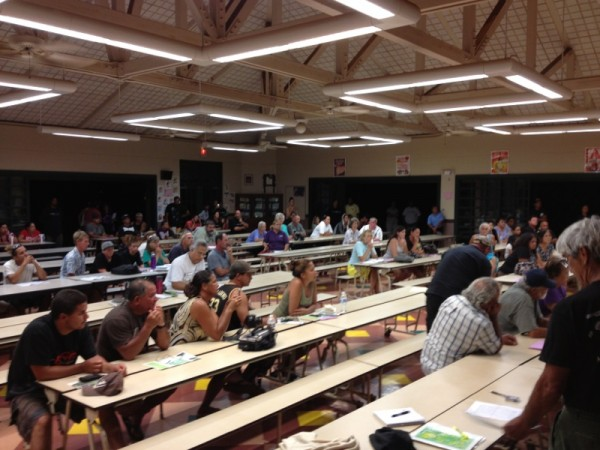 Anahola Community Meeting held last night at Kapa'a Elementary School.
