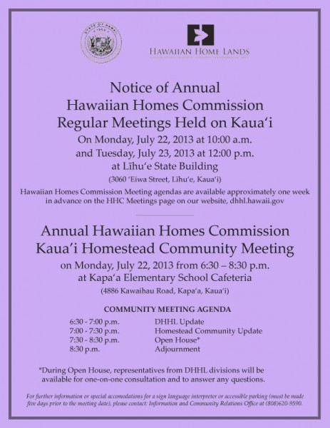 Kauai Community Meeting
