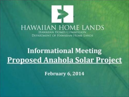 Anahola Solar Powerpoint