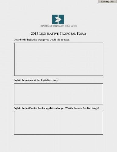 2015 DHHL Legislative Proposal Form