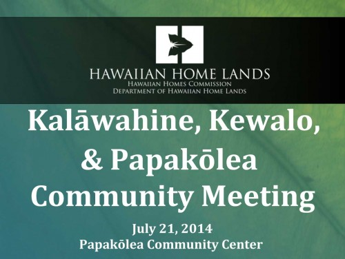 Click to download a PDF version of the presentation from tonight's Kalāwahine, Kewalo, & Papakōlea Community Meeting.