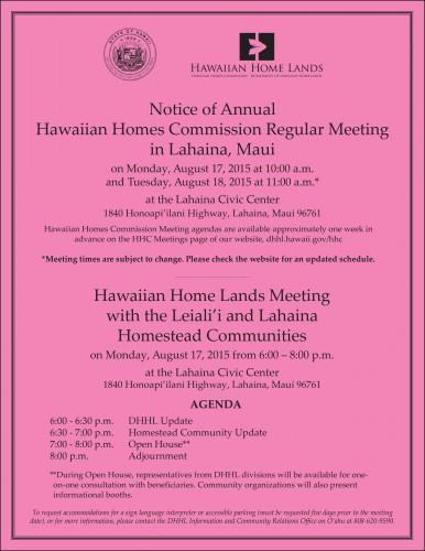 HHC Lahaina Flier