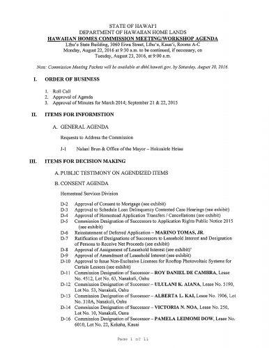 HHC Kauai Agenda pic