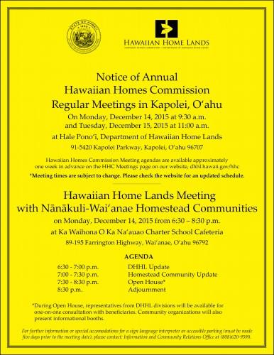 Colored Nanakuli-Waianae HHC Flyer