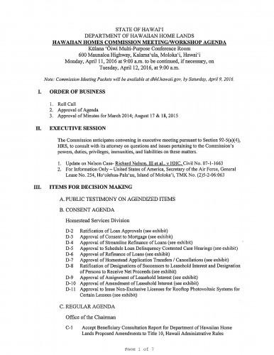 HHC Agenda