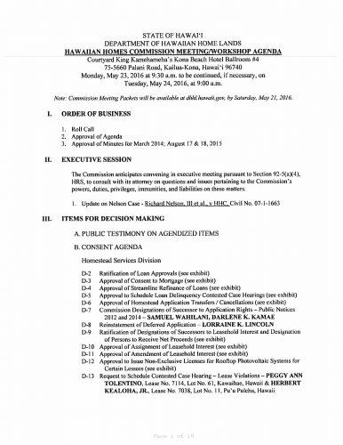 May 23 & 24, 2016 HHC Agenda Kailua-Kona-1