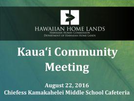 DHHL Update Kauaʻi